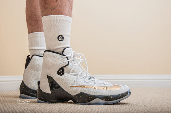 First Decent Look at White amp Gold LeBron 13 Elite