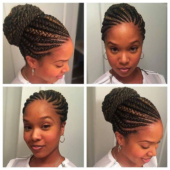 Straight Up Braids Hairstyles 2018 | fashiong4