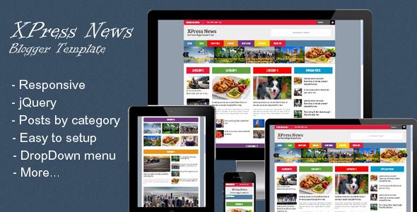 xpress news responsive blogger magazine premium template free download webandgraph online. Black Bedroom Furniture Sets. Home Design Ideas