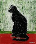 054 - Le Chat - 1994 38 x 46 - Huile solide sur toile