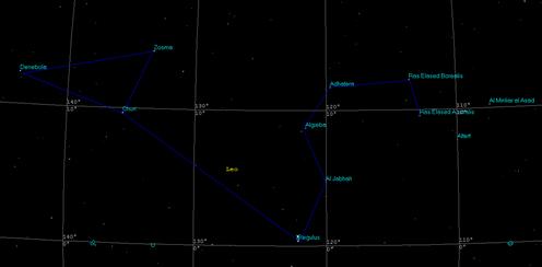 Congiunzione Giove-Regulus 14/9/0003 a.C.