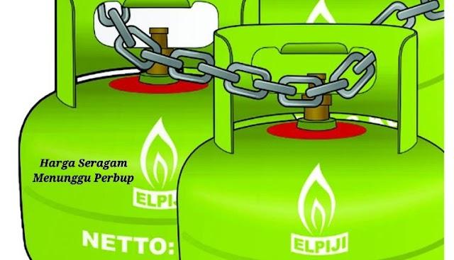 Harga Seragam LPG 3 Kilo di Tanah Bumbu Tunggu Perbup
