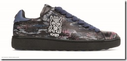 Keith Haring Hawaiian C101 Low Top Sneaker in Hawaiian Black (G2244)