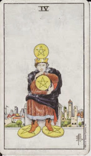4 Four Of Pentacles Iv