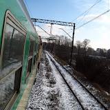Jedziemy do Krakowa. Tu jeszcze mało śniegu