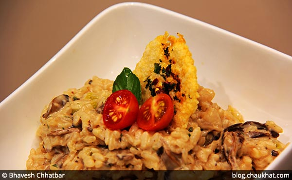 Risotto Ai Funghi served at 212 All Day Cafe & Bar at Phoenix Marketcity in Pune