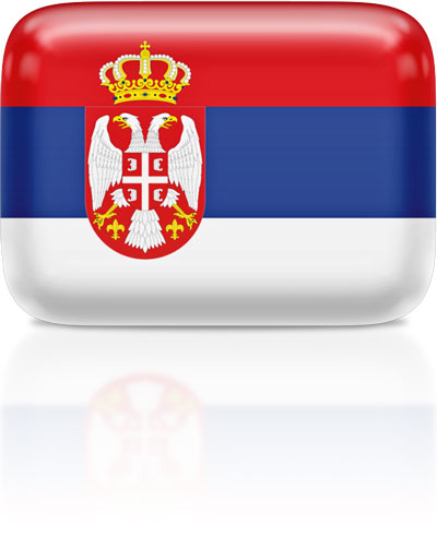 Serbian flag clipart rectangular