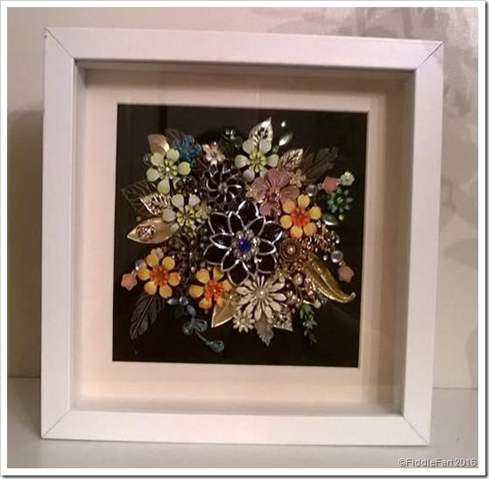 Framed jewellery collage