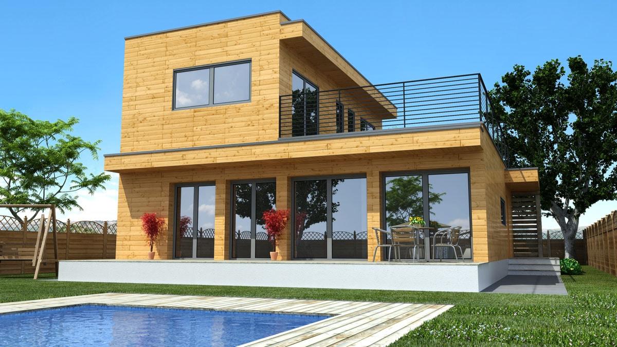 vivienda-modular-madera-piscina