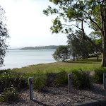 Parkland near Dilkera Ave Valentine with Lake Macquarie beyond (389978)