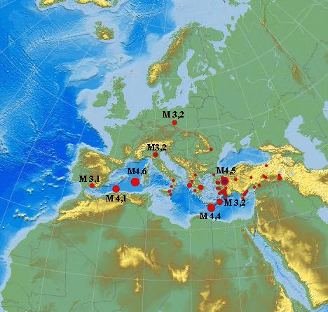 Erdbeben Europa am 19.06.2012