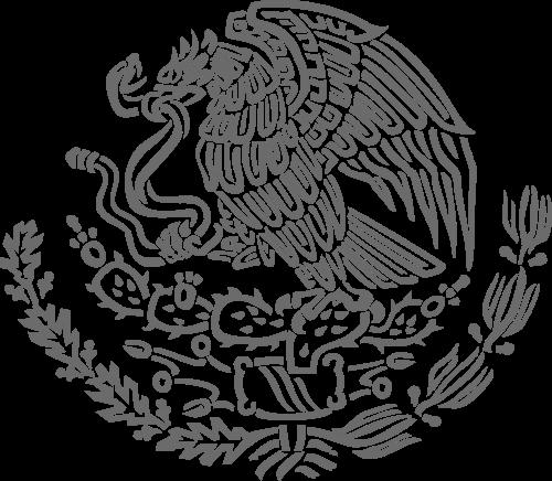 Imágenes del escudo de México escala de grises