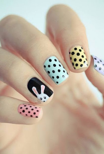 doing nail art