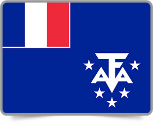 French Southern Territories  framed flag icons with box shadow