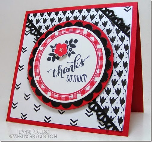 LeAnne Pugliese WeeInklings Kind & Cozy Another THank You Stampin Up