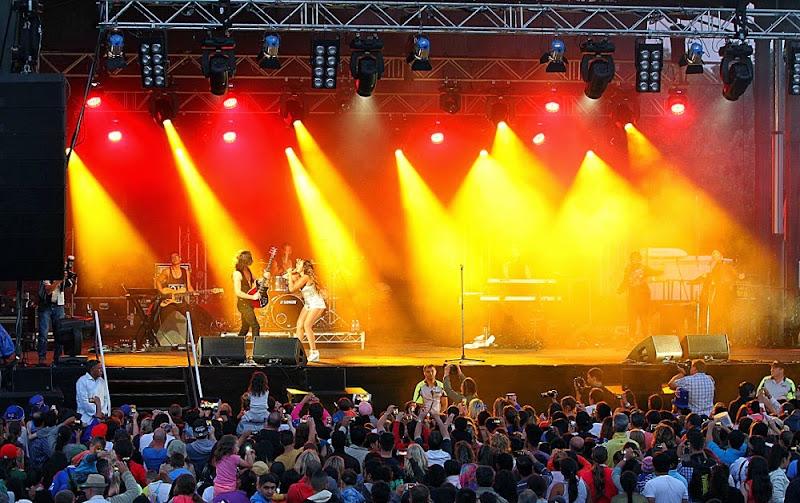 Jessica Mauboy in concert at Parramatta Park