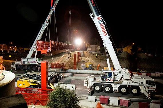 Nueva pasarela peatonal en Boadilla del Monte sobre la M-513