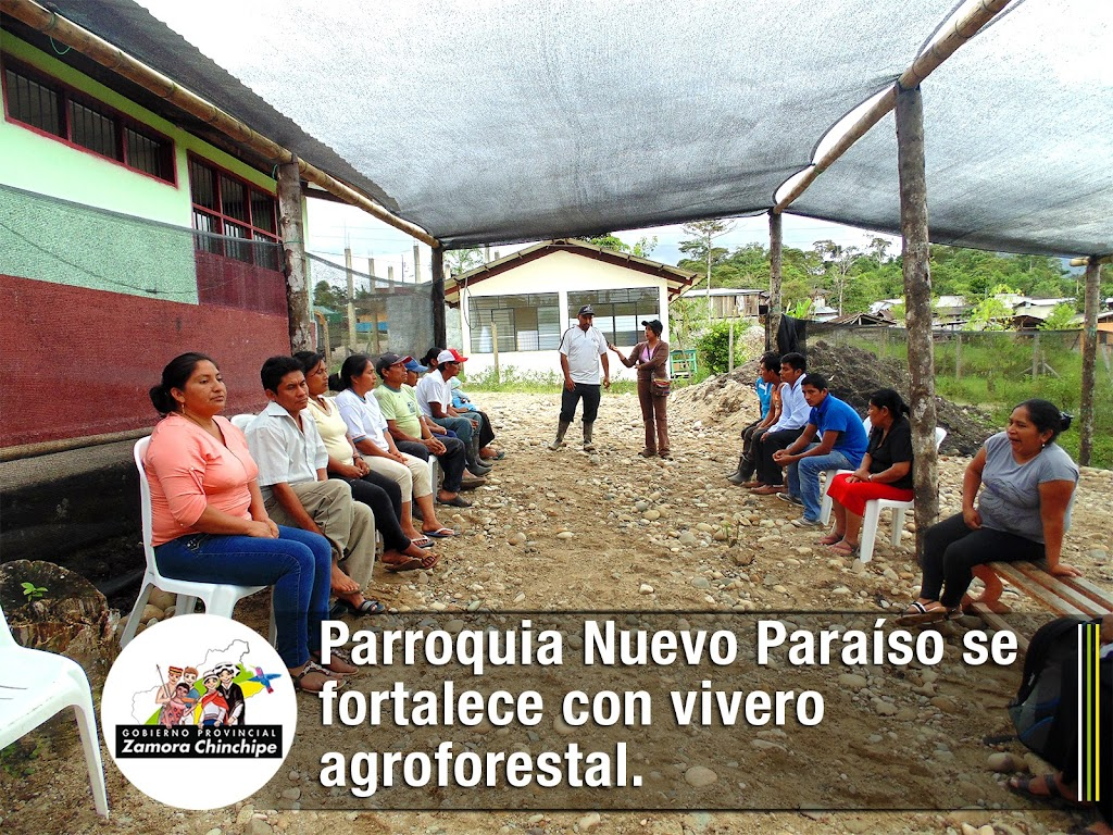 PARROQUIA NUEVO PARAÍSO SE FORTALECE CON VIVERO AGROFORESTAL.