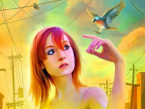A Girl And Flying Bird, Magic Beauties 3