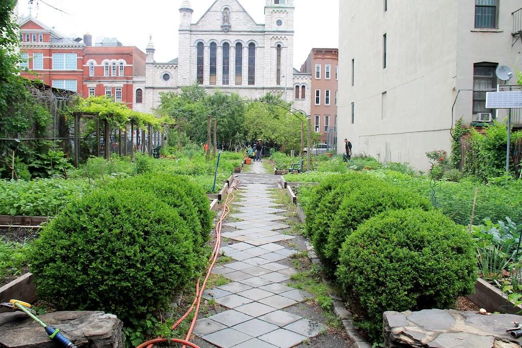 Our next stop: the Rodale Pleasant Parks Community Garden
