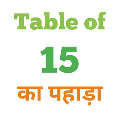 15 Ka Pahada ( 15 का पहाड़ा ) 15 ka pahada in hindi