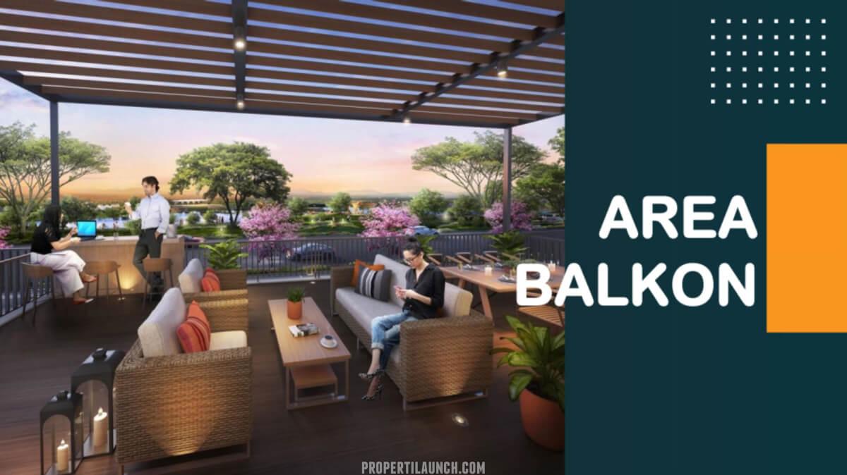 Area Balkoni Ruko Melody