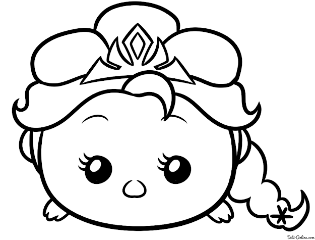 Tsum Coloring Pictures To Color   Tsum Tsum