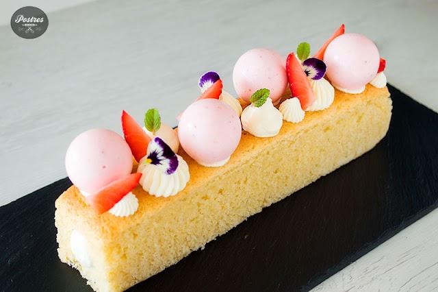CAKE de FRESAS, MASCARPONE y CHOCOLATE BLANCO