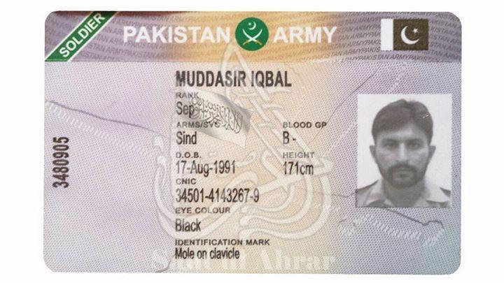 ssg commando muddassir iqbal of pakistan army