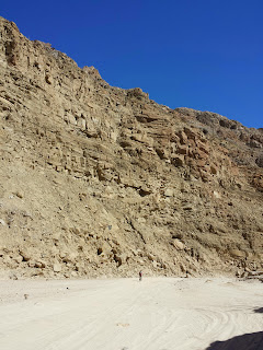 Greg Schultejann from Apache Junction, AZ braving the sand and sun in Fish Creek Canyon.