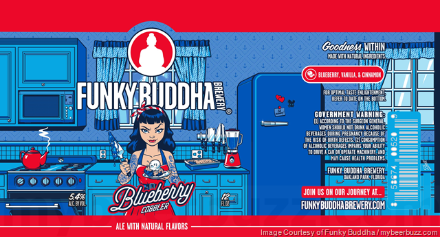 Funky Buddha Adding Blueberry Cobbler Cans