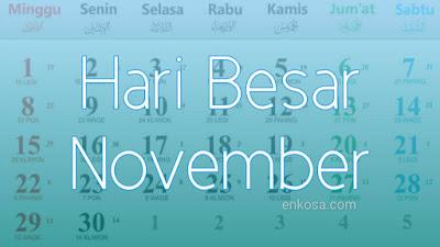 Daftar Hari Besar Nasional Bulan November 2021