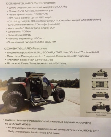 IMI Combat Guard 4x4 Product Brochure