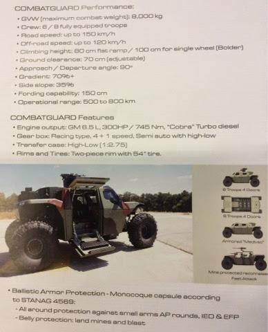 IMI Combat Guard 4x4 Product Brochure