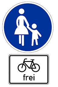 Fussweg - Radfahrer frei