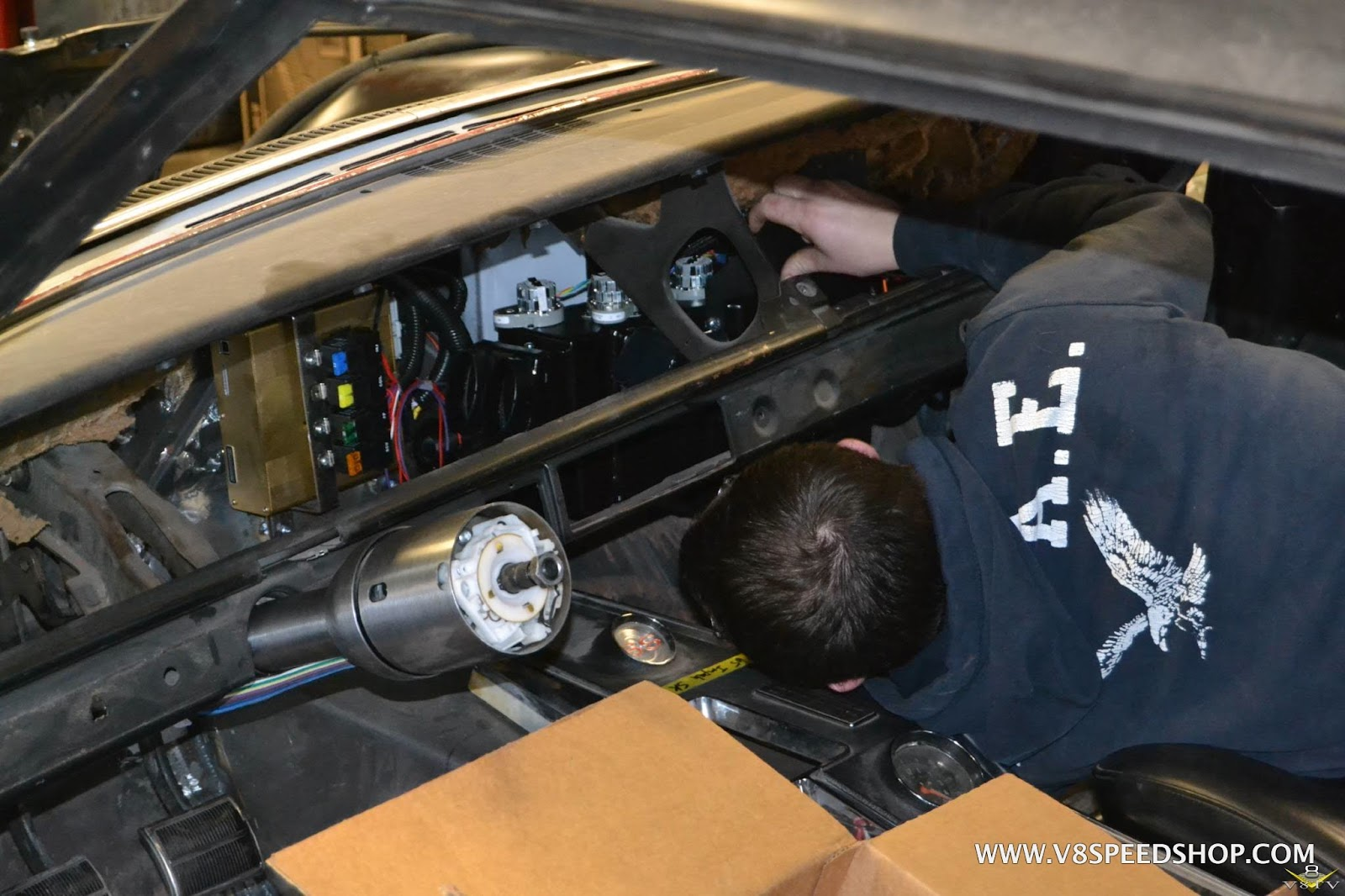 1965 Chevrolet Impala Ss Restoration Page 8 V8 Forum V8tv Vintage Air Wiring Harness An American Autowire Classic Update Replaces All The Old