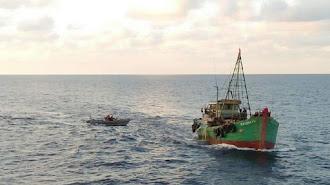 KKP Tangkap Enam Kapal Ikan Ilegal Berbendera Vietnam di Laut Natuna