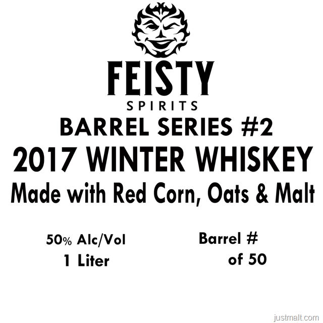 Feisty Spirits Barrel Series # 2 2017 WInter Whiskey