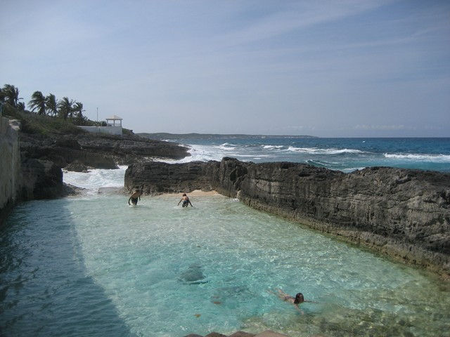 natural seawater wave pool at Stella Maris Resort