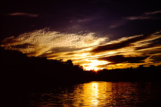 Photo: Sunset over the lake.