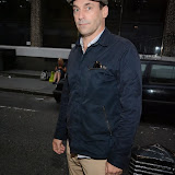 WWW.ENTSIMAGES.COM -       Jon Hamm leaving The Soho Hotel London August 8th 2013                                                    Photo Mobis Photos/OIC 0203 174 1069