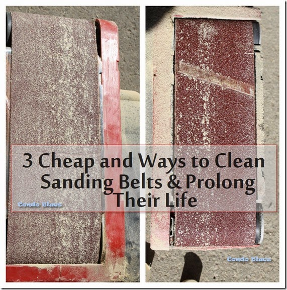 3 ways to clean beltsander