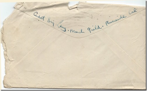 Nov 8 1918 Envelope Back