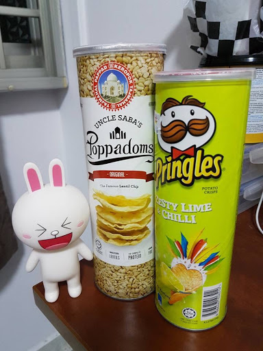 Poppadoms and Pringles from Malaysia