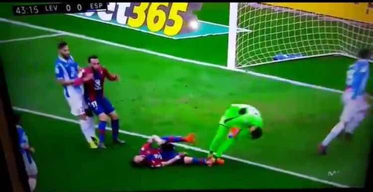 #DiegoLopez, trauma for goalkeeper: terrible headshot [VIDEO]