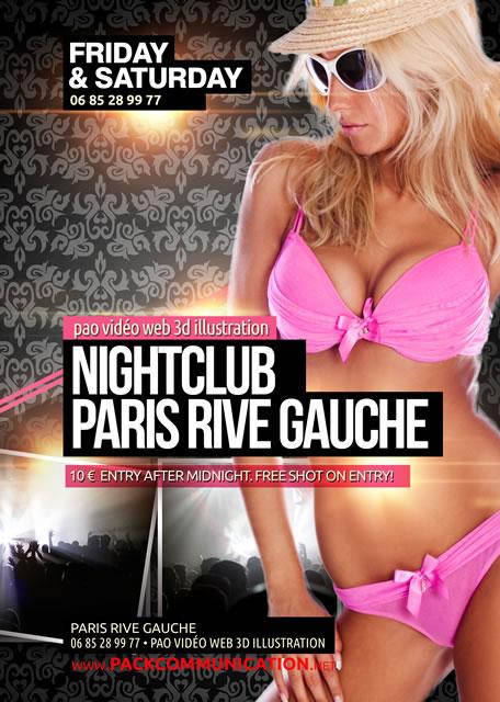 création flyer soirée thème Nightclub Paris Rive Gauche 1b