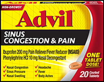 Advil Sinus Congestion and Pain