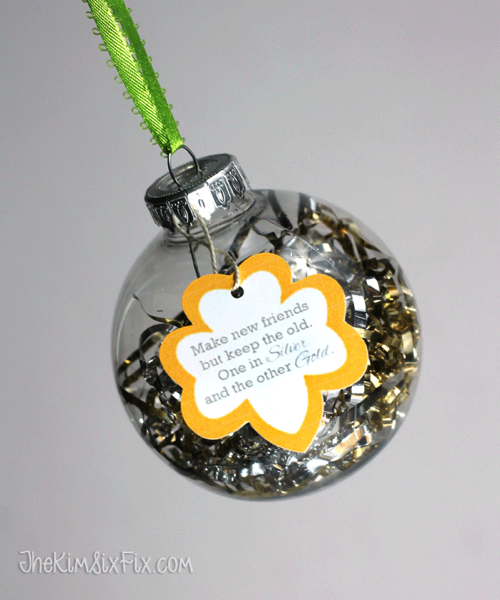 Silver and Gold DIY Ornament