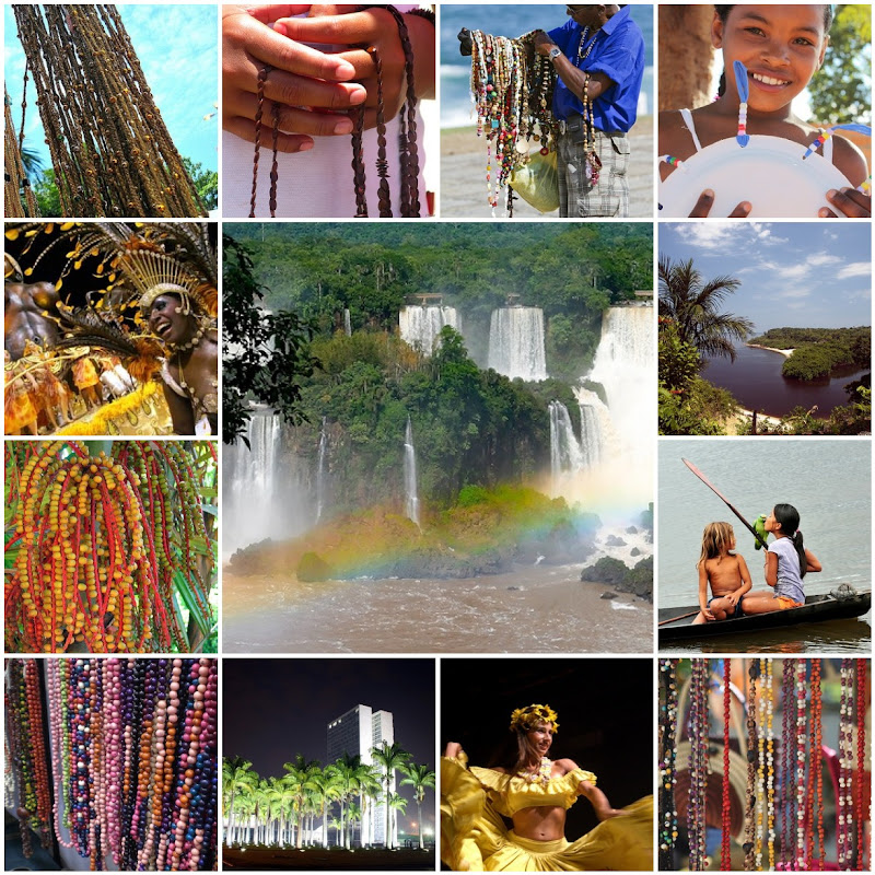 Beads and Beauty in Brazil Photo Collage