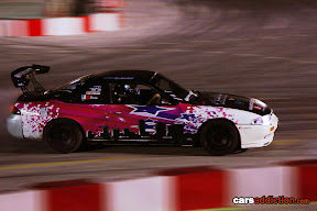 Keith Borg in his white Nissan 200sx